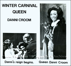 Danni Croom, first African-American Winter Carnival Queen